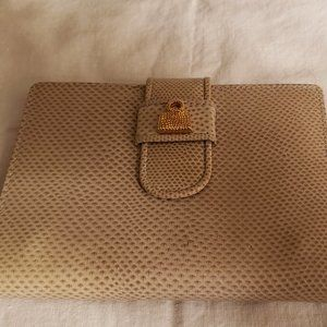 Judith Leiber Snakeskin Wallet Address Phone Book